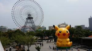 A massive Pickachu ballon at Minato Mirai, Yokohama