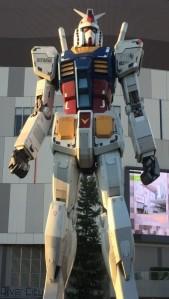 Big Gundam statue at Diver City, Odaiba