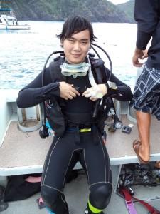 Diving at Naha, Okinawa